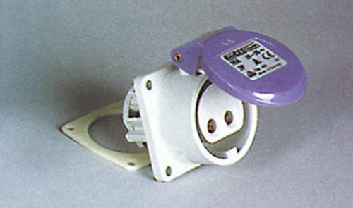 Kristal Electrical Connector, Female Receptacle, Flush Mount 16 Amp