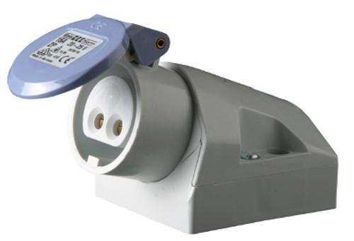 Kristal Electrical Connector, Female Receptacle, Under Gunnel Mount, 32 Amp