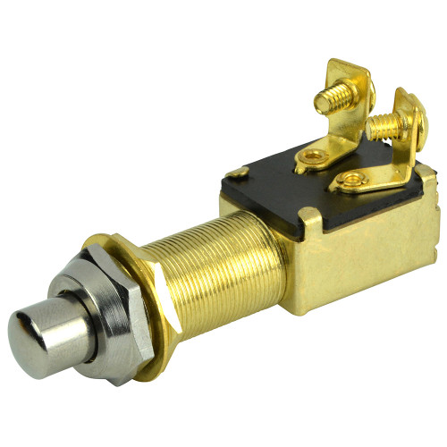BEP 2-Position SPST Recessed Push Button Switch - OFF\/(ON)