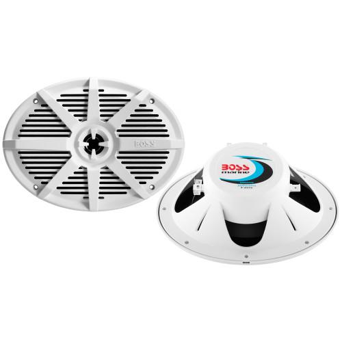 """Boss Audio MR692W 6"""" x 9"""" 2-Way 350W Marine Full Range Speaker - White - Pair"""