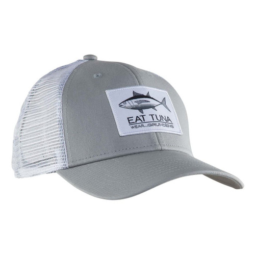 Grundens Eat Tuna Trucker Cap - Glacier Gray