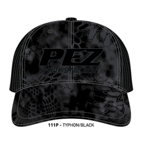 Pez Fishing Hat - 3D Logo -Kryptek Black