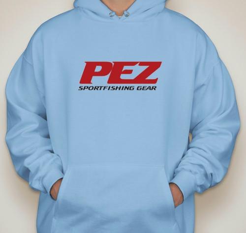 Pez Performance Fishing Hoodie -Medium - Carolina Blue