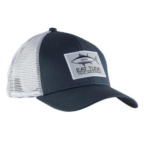 Grundens Eat Tuna Trucker Cap - Dark Slate