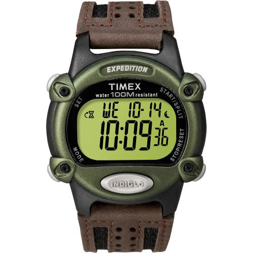 Timex Expedition Mens Chrono Alarm Timer - Green\/Black\/Brown