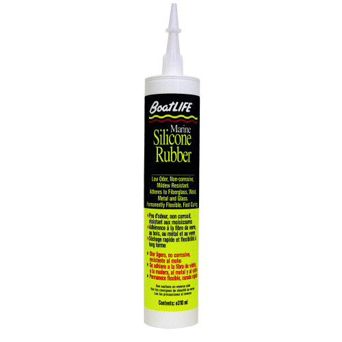 BoatLIFE Silicone Rubber Sealant Cartridge - Clear