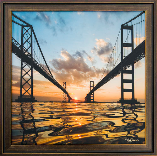 Jay Fleming Print Unframed - Sunset Between the Spans 14 x 20