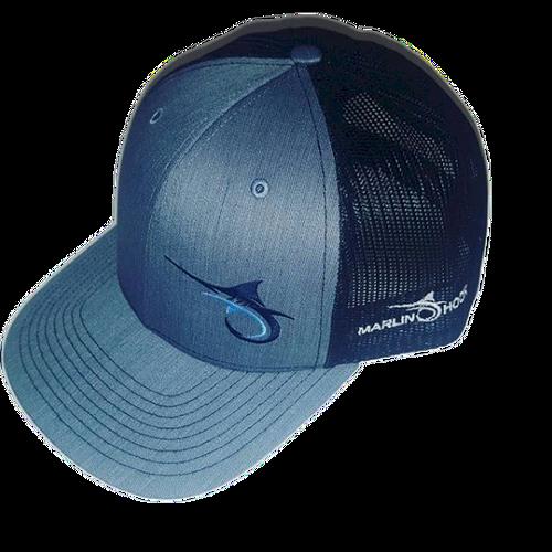 Marlin Hook Trucker Hat - Heather/Black