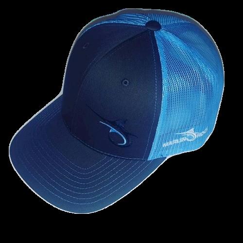 Marlin Hook Trucker Hat - Columbia Blue/Charcoal