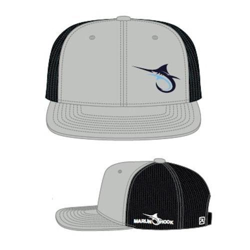 Marlin Hook Flatbill Hat - Heather/Black