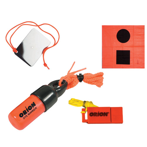 Orion Signaling Kit - Flag, Mirror, Dye Marker  Whistle