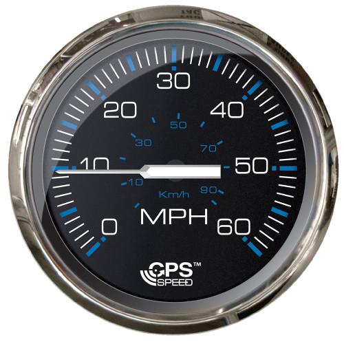 "Faria Chesepeake Black SS 4"" Studded Speedometer - 60MPH (GPS)"