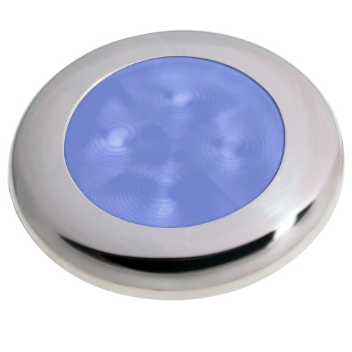 Hella Marine Polished Stainless Steel Rim LED Courtesy Lamp - Blue