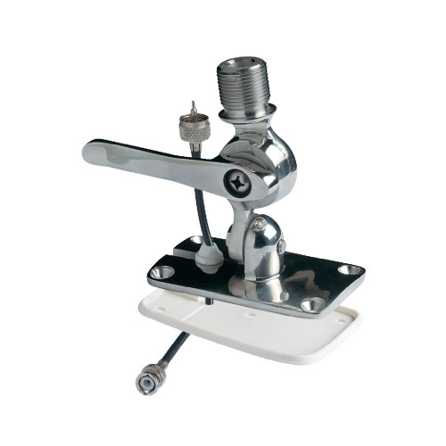 Glomex Low Profile 4-Way Stainless Steel Ratchet Mount