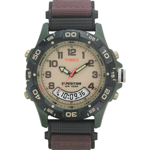Timex Expedition Resin Combo Classic Analog Green\/Black\/Brown