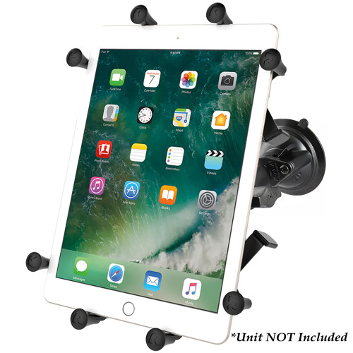 "RAM Mount Twist-Lock Suction Cup Mount w\/Universal X-Grip Cradle for 10"" Large Tablets"