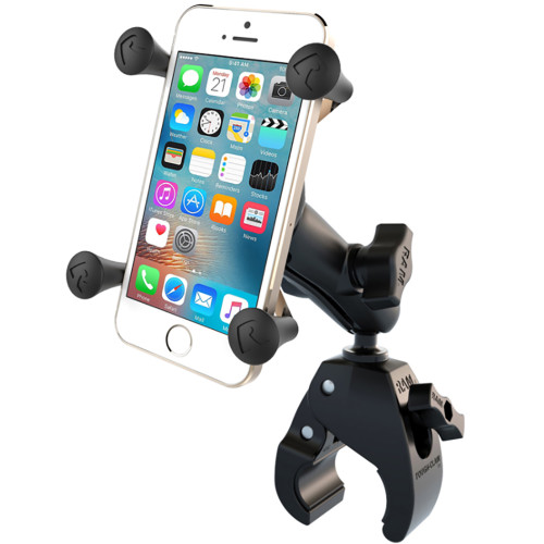 RAM Mount Small Tough-Claw Base w\/Double Socket Arm  Universal X-Grip Cell\/iPhone Cradle