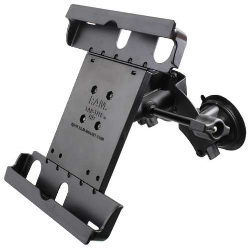 RAM Mount Dual Suction Cup Mount w\/Retention Knob  Large Tab-Tite Universal Tablet Holder
