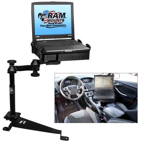 RAM Mount No-Drill Laptop Mount f\/Dodge Journey, Ford Escape, Ford Focus, Jeep Compass & Jeep Patriot