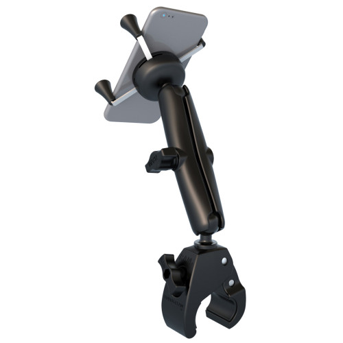 RAM Mount Universal Tough-Claw Base w\/Long Double Socket Arm & Universal X-Grip Cell\/iPhone Cradle