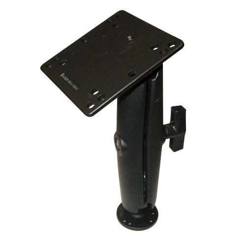 """RAM Mount 4.75"""" Square Base VESA Plate 75mm and 100mm Hole Patterns w\/Long Surface Mount"""