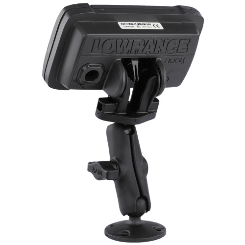 "RAM Mount B Size 1"" Composite Fishfinder Mount for the Lowrance Hook2 Series"