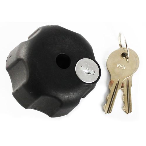 """RAM Mount Knob w\/Keyed Lock & 1\/4"""" - 20 Brass Hole"""