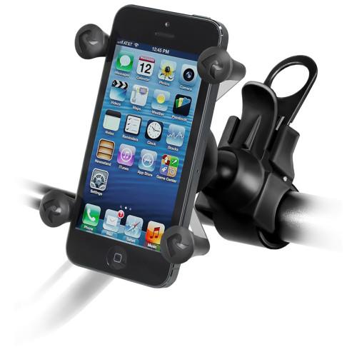 RAM Mount EZ-Strap Rail Mount w\/Universal X-Grip Cell Phone Holder