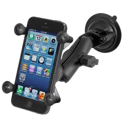 RAM Mount Twist Lock Suction Cup Mount w\/Universal X-Grip Cell Phone Holder