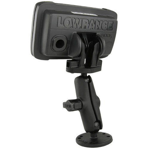 """RAM Mount B Size 1"""" Fishfinder Mount for the Lowrance Hook2 Series"""