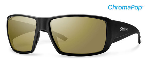 Smith Optics Sunglasses - Guide's Choice - Matte Black Frame - ChromaPop PLUS Polarized Bronze Mirror Lens