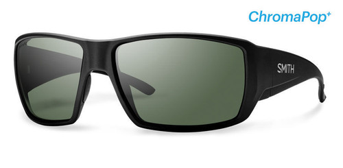 Smith Optics Sunglasses - Guide's Choice - Matte Black Frame - ChromaPop PLUS Polarized Gray Green Lens