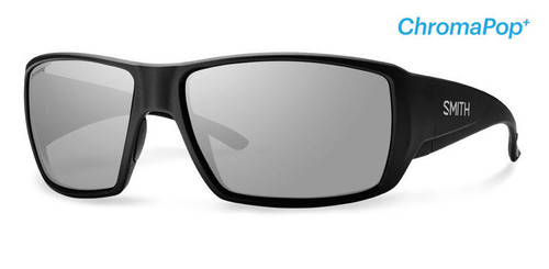 Smith Optics Sunglasses - Guide's Choice - Matte Black Frame - ChromaPop PLUS Polarized Platinum Lens