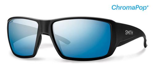Smith Optics Sunglasses - Guide's Choice - Matte Black Frame - ChromaPop PLUS Polarized Blue Mirror Lens