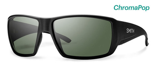 Smith Optics Sunglasses - Guide's Choice - Matte Black Frame - ChromaPop Polarized Gray Green Lens