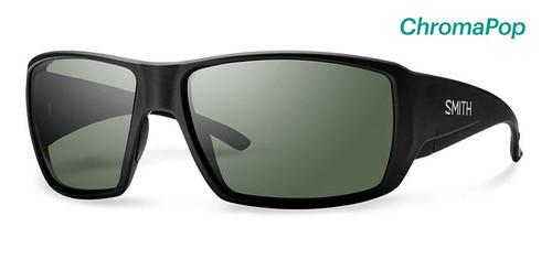 Smith Optics Sunglasses - Guide's Choice - Matte Black Frame - ChromaPop Polarized Gray Green Lens