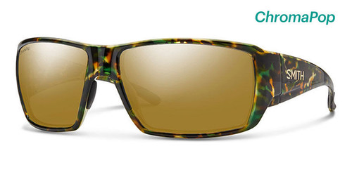 Smith Optics Sunglasses - Guide's Choice - Flecked Green Tortoise Frame - ChromaPop Polarized Bronze Mirror Lens