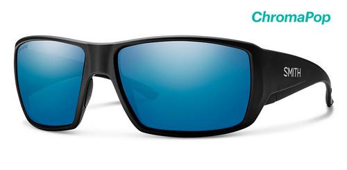 Smith Optics Sunglasses - Guide's Choice - Matte Black Frame -ChromaPop Glass Polarized Blue Mirror Lens