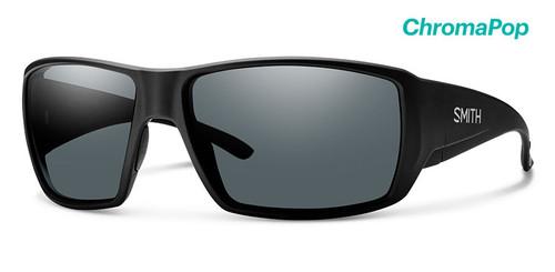 Smith Optics Sunglasses - Guide's Choice - Matte Black Frame -ChromaPop Glass Polarized Gray Lens