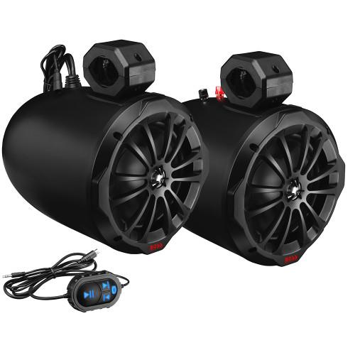 "Boss Audio B82ABT 8"" 2-Way Amplified Waketower Speakers w\/Bluetooth Controller"