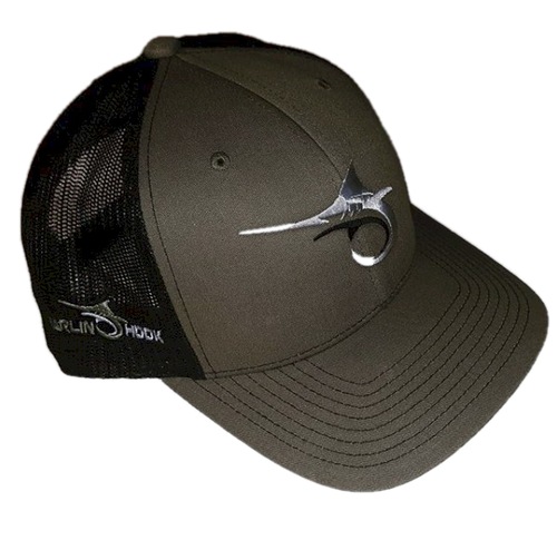 Marlin Hook Trucker Hat - Columbia Blue/Charcoal