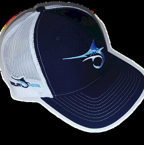 Marlin Hook Trucker Hat - Symbol - Navy/White