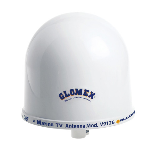 "Glomex 10"" Dome TV Antenna w\/Auto Gain Control  Mount"