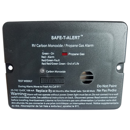 Safe-T-Alert Combo Carbon Monoxide Propane Alarm - Black