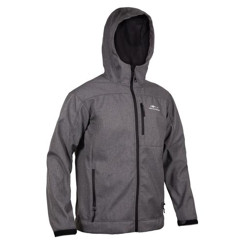 Grundens Midway Softshell Herringbone Gray Jacket