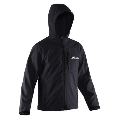 Grundens Midway Softshell Black Hooded Jacket