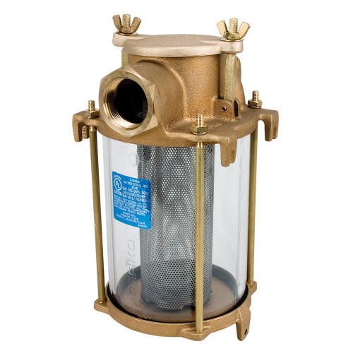 """Perko 1-1\/2"""" IPS Intake Strainer Bronze Made in the USA"""