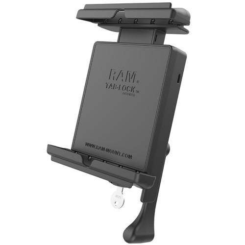 RAM Mount Tab-Lock Locking Cradle f\/Apple iPad mini 1-3 w\/Case, Skin  Sleeve