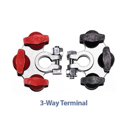 TH Marine Hydra Multi-Connection Marine Battery Terminals 3-Way