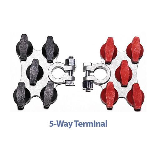 TH Marine Hydra Multi-Connection Marine Battery Terminals 5-Way